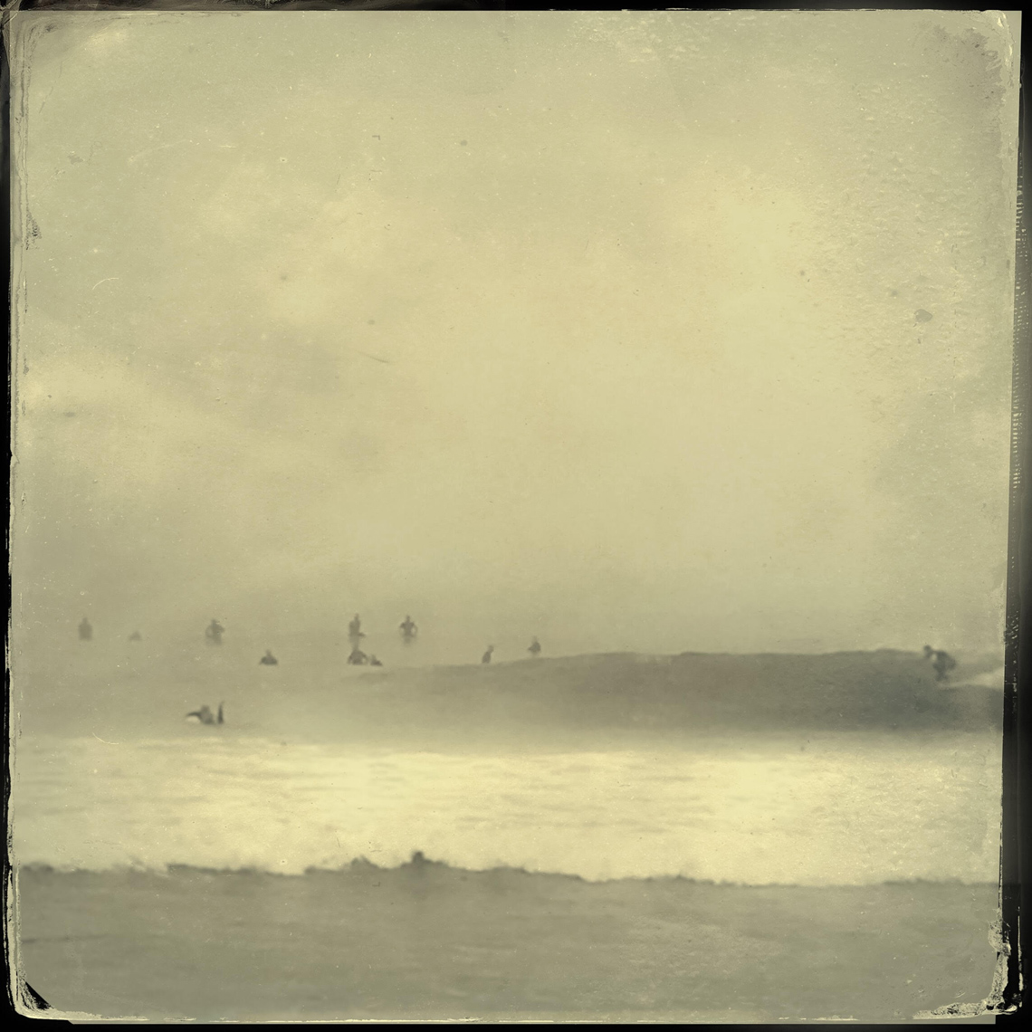 A Liars Ten: aka AM Oil Platforms (wet plate sketch)