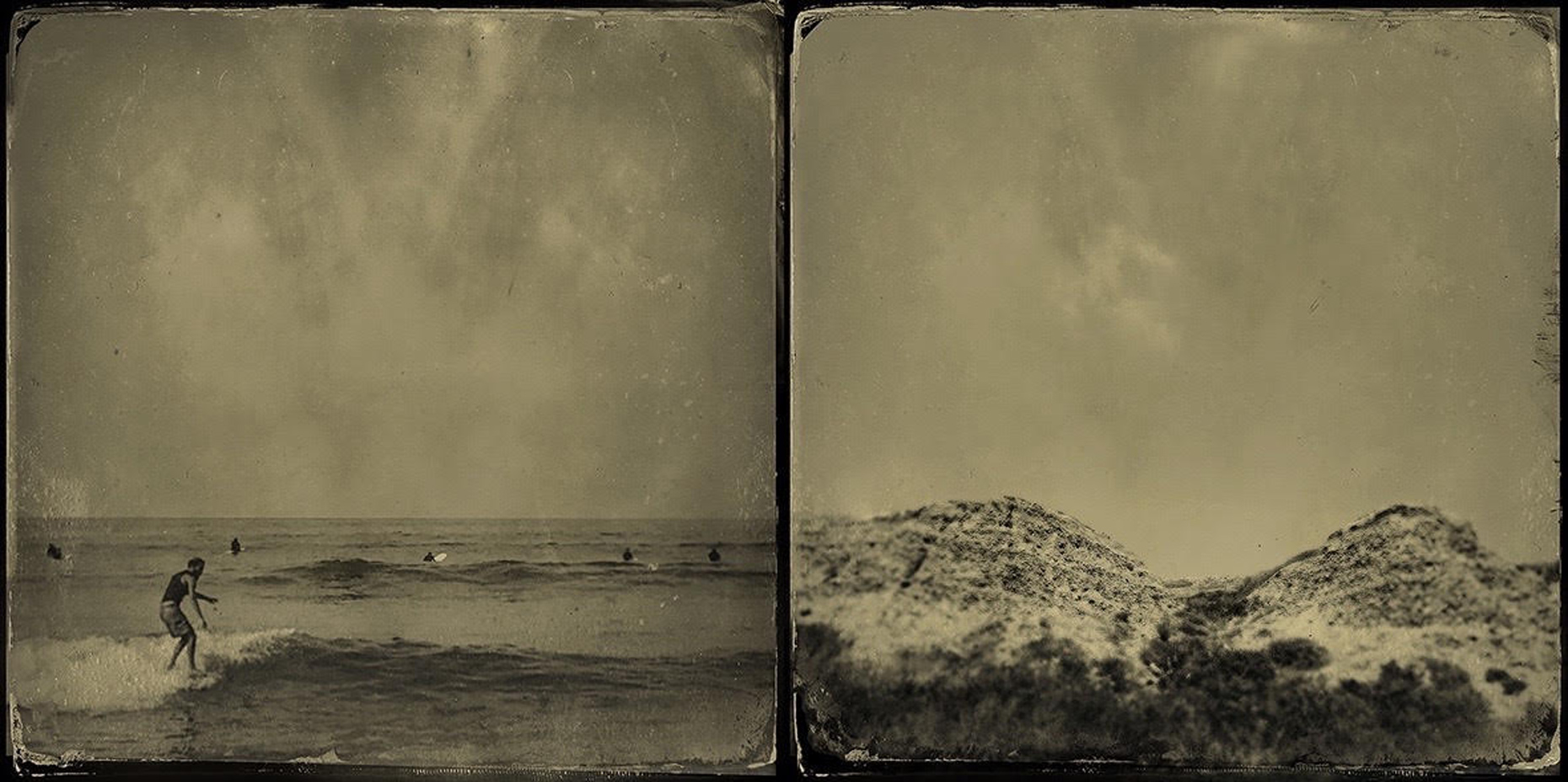 Short Period Swell (wet plate sketch)