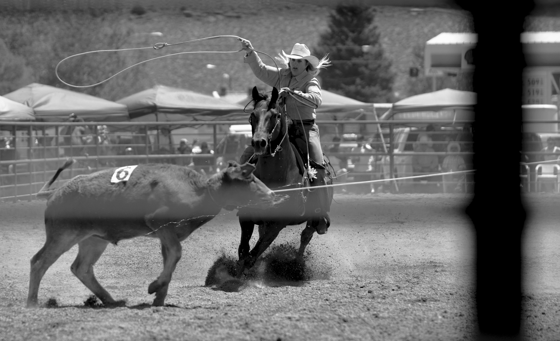 Roadtripping_BridgeportRodeo_CowgirlRopingNumber6Calf_Action_Personal_Retouched_Web